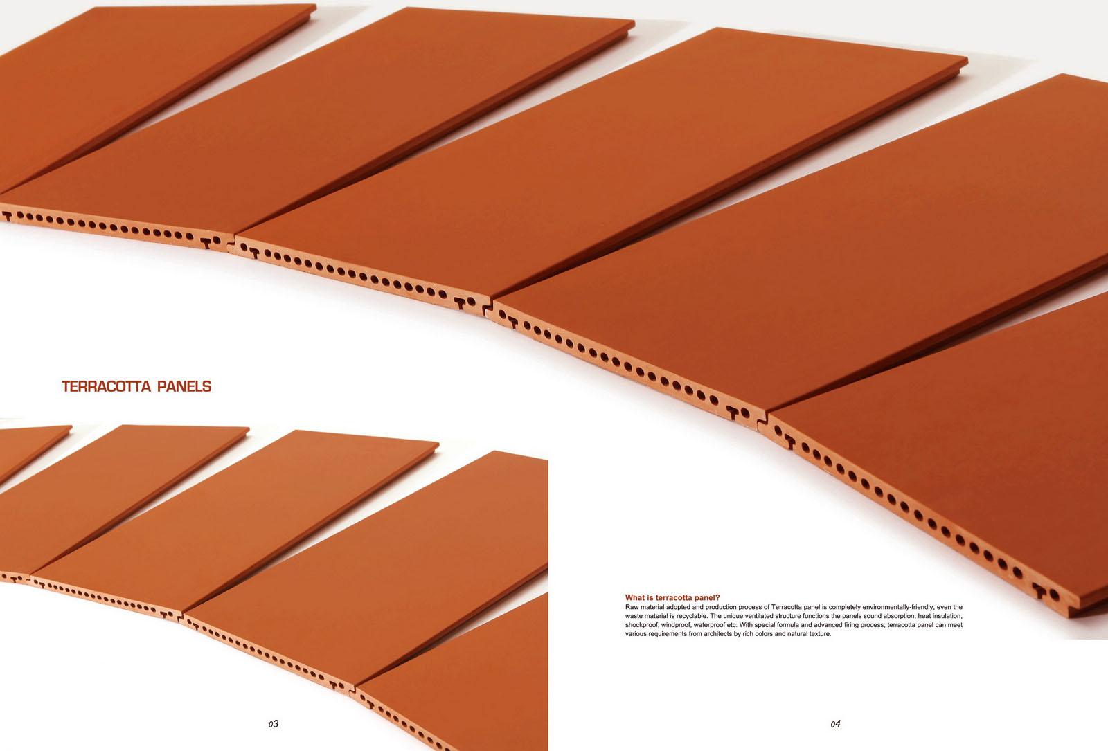 일반적으로 사용되는 테라코타 벽 패널의 주로 분류  LOPO 테라 ...