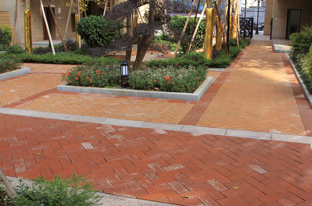 Hunan changsha garden villa china brick floor - Garden floor tiles design ...
