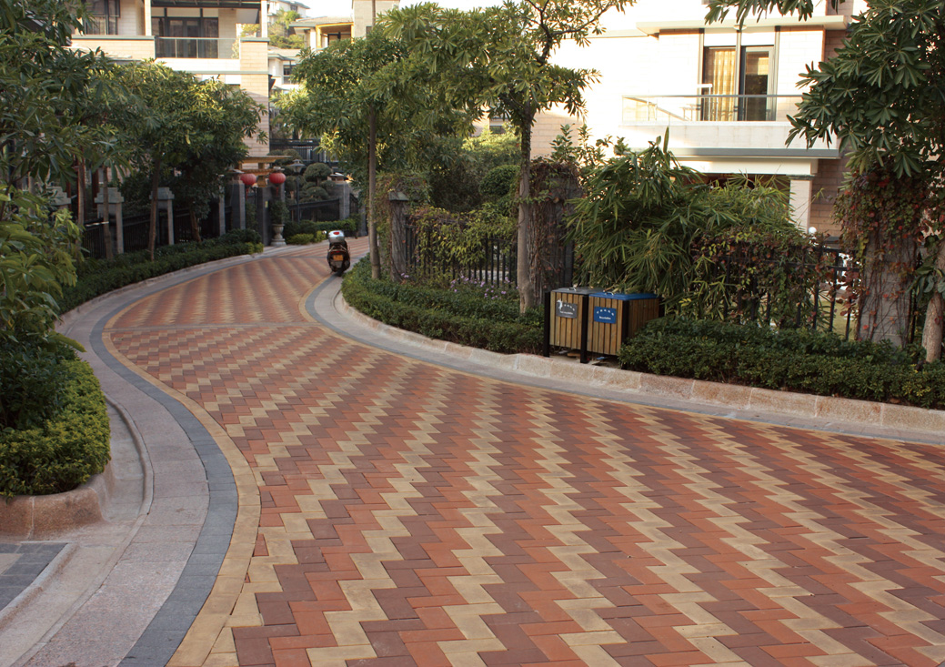 Quanzhou olympic garden china brick pavers for Garden tiles designs