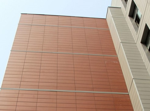 18mm Terracotta Wall Panel System Helps Reduced Weight of Wall Area