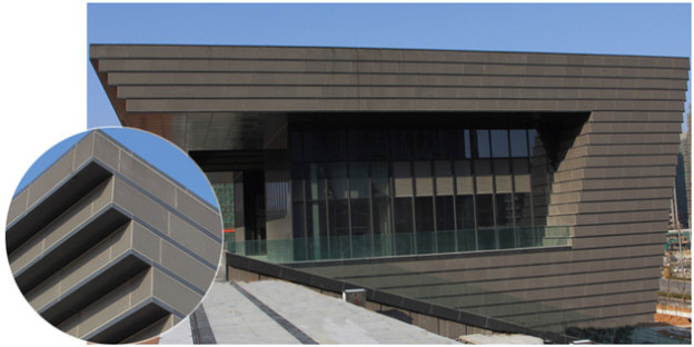 The Perfect Deduction of Terracotta rainscreen and Terracotta Baguette—The National Fitness Center, Zhoushan