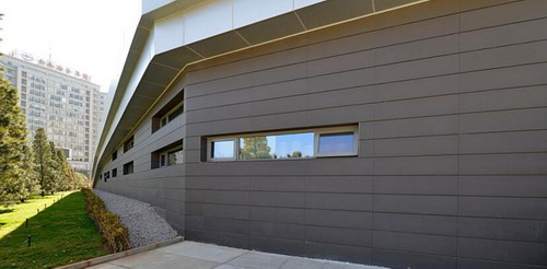 Terracotta rainscreen system, terracotta façade panel, Dark Grey Terracotta panel